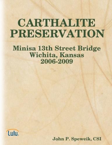 CARTHALITE PRESERVATION
